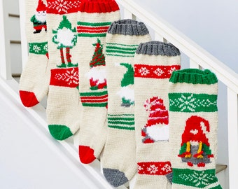 Christmas Stocking, Christmas Stocking Design, Christmas Knitting, Aztec, Deer, Native American, Triangles, Aztec Motif, Arrows, Sticks