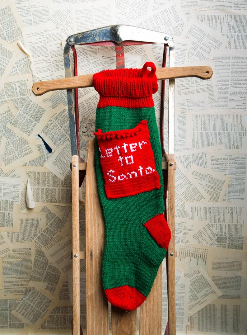 Letter Christmas Stockings.Letter To Santa Stocking Christmas Stocking Christmas Stocking Christmas Stocking Design Family Stockings Christmas Knitting