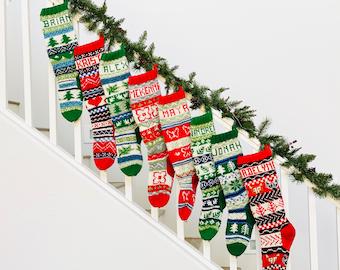 Fair Isle PATTERN, Christmas Stocking, Christmas Stocking Patterns, Christmas Stocking Design, Stockings, Christmas Knitting,