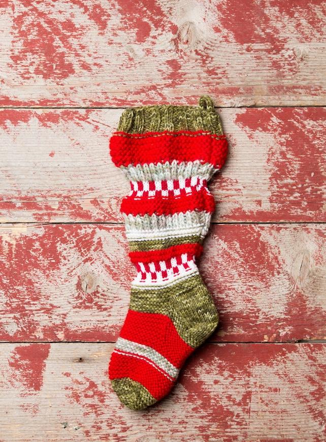 Sweater Knit Pattern Christmas Stocking Christmas Stocking Etsy