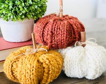 Knit Pumpkins, Autumn Decor, Fall decor, Halloween Decor, Pumpkins, Thanksgiving Decor, Fall, Thanksgiving Dinner Decor