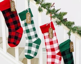 Buffalo Check Stockings, Christmas Stocking, Christmas Stocking Design, Christmas Knitting, Buffalo Print
