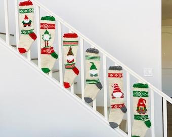 Christmas Stocking PATTERNS, Christmas Stocking Design, Family Stockings, Christmas Knitting, garden gnomes