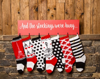 Christmas in Paris Stockings, Christmas Stocking, Christmas Stocking Design, Family Stockings, Christmas Knitting, Paris, Polka Dots, Stripe