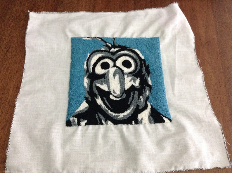 Gonzo Sesame Street Muppets punch needle detail pictures to frame