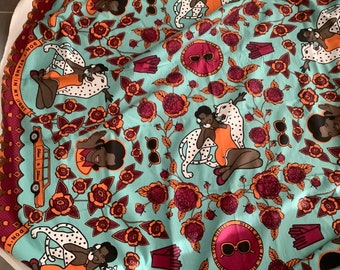 Shine Shine African textile designer Dont stand in my light  girl cheetah flowers fabric