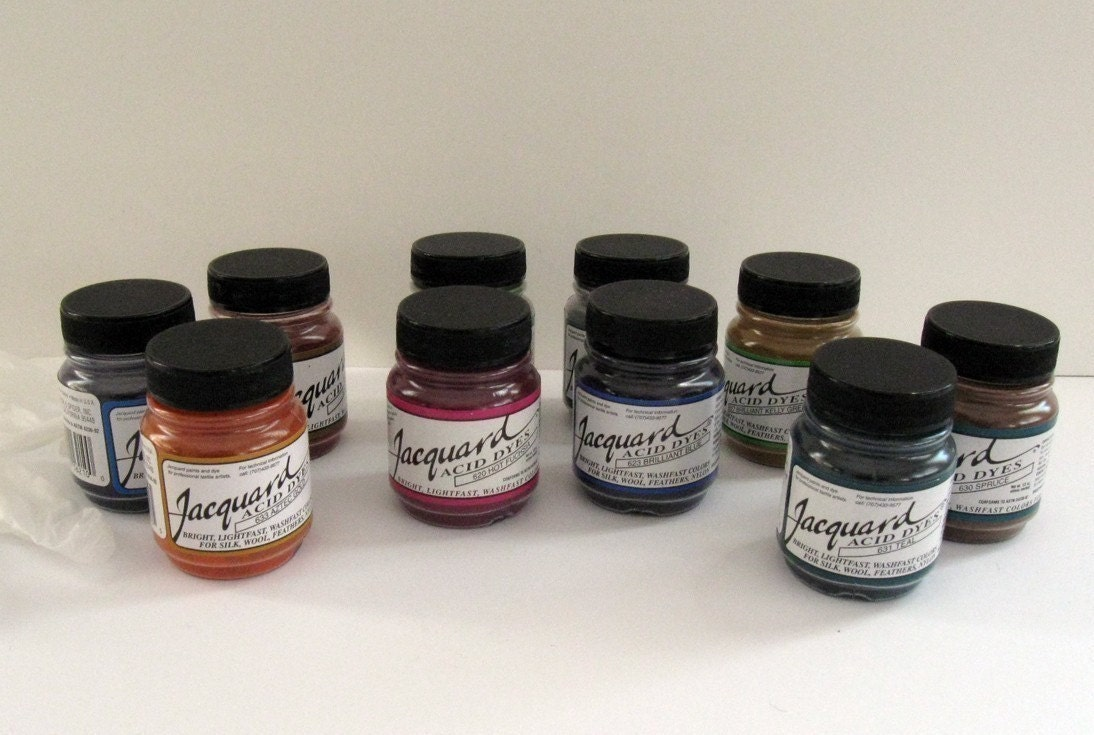 Acid Dyes Jacquard Kit Of Fifteen 5oz Jars For Protein Etsy