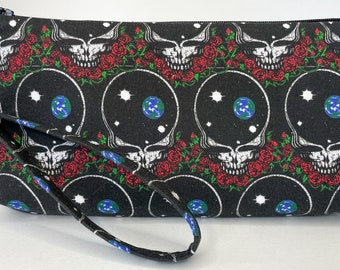 Grateful Dead steal your space zippered clutch pouch