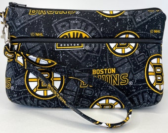 Boston Bruins Large Wallet with Detachable Strap