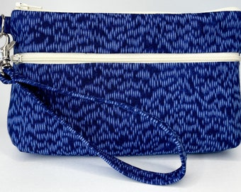 Blue Dash Large Wallet with Detachable Strap