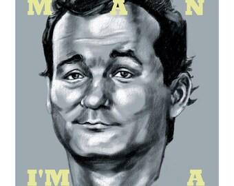 "Peter Venkman ""Back off, man. I'm a scientist"" Bill Murray Portrait 8x10"" Print"