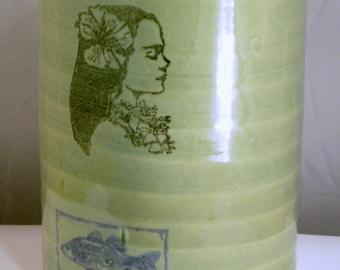 Polynesian Princess jug moonshine whiskey handmade