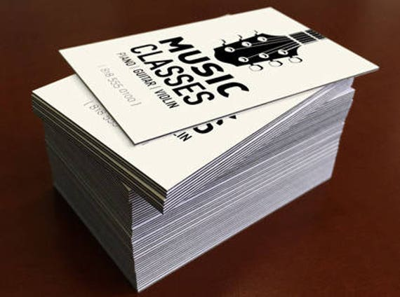 Black edge business cards set of 1000 32pt uncoated reheart Image collections