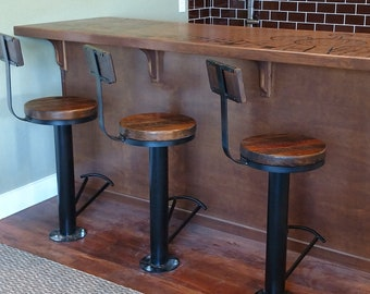 Superb Free Shipping Bolt Down Urban Industrial Bar Stools With Caraccident5 Cool Chair Designs And Ideas Caraccident5Info