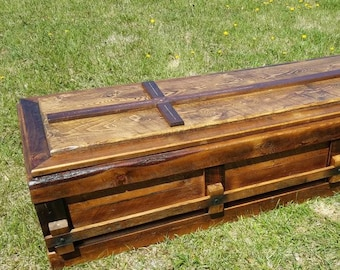 Free Shipping - Reclaimed Knotty Pine Custom Casket
