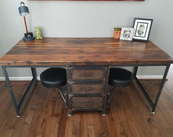 Groovy Wood Desk With Drawers Etsy Home Remodeling Inspirations Gresiscottssportslandcom