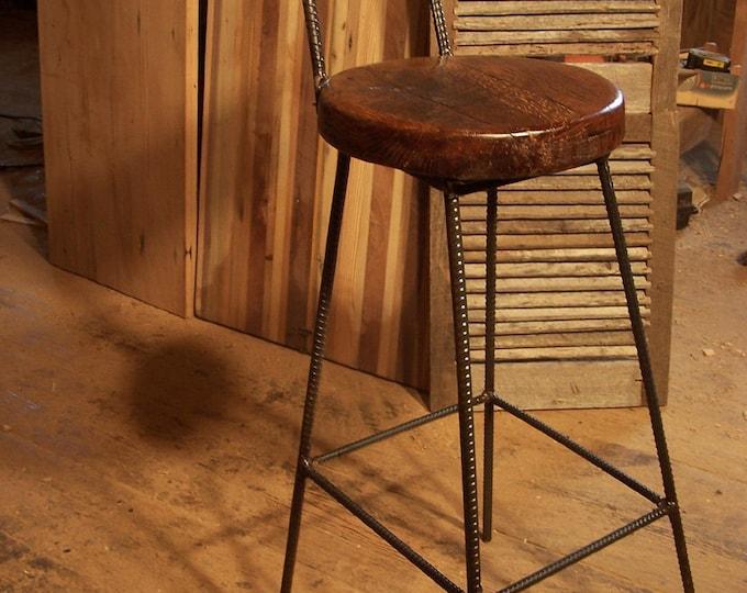 Wood Bar Stools With Backs, Counter Height Stools, Rustic Bar Stools, Industrial Bar Stools, Vintage Bar Stools, Pub Stools, Farmhouse Stool