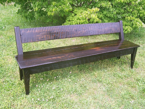 Brilliant Relaxed Back Reclaimed Wood Farm Bench Camellatalisay Diy Chair Ideas Camellatalisaycom