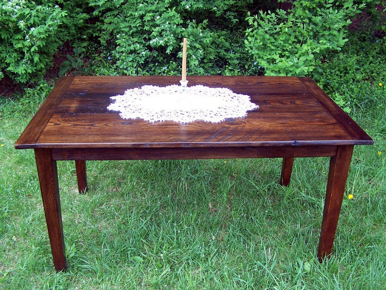 60 wormy chestnut farm table with extension etsyimage 0