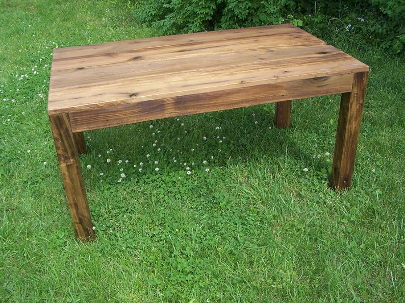 Genial Reclaimed Antique Wood Parsons Table | Etsy