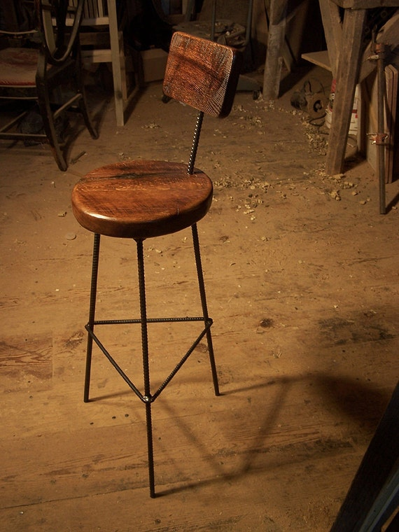 Items Similar To Reclaimed Oak Bar Stools With Industrial