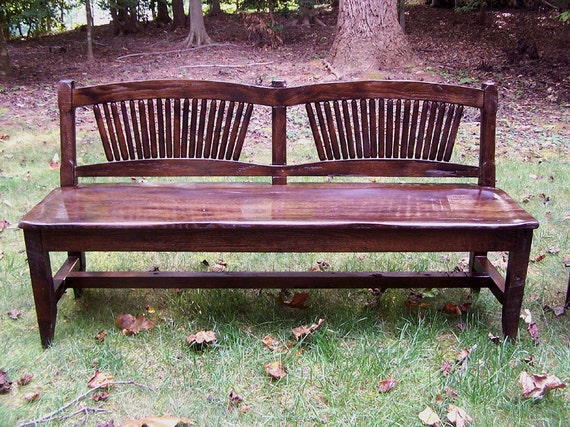 Prime Reclaimed Antique Oak Rustic Spindle Back Bench Caraccident5 Cool Chair Designs And Ideas Caraccident5Info