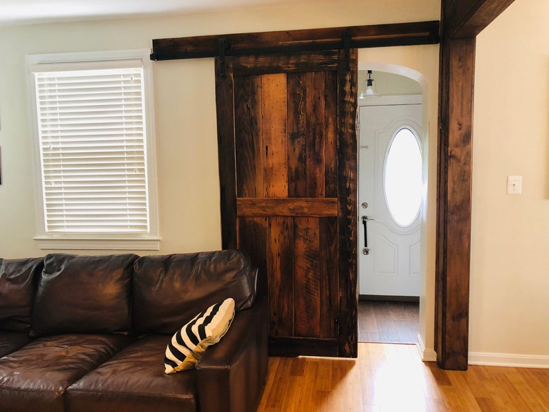 Beau Sliding Barn Door From Reclaimed Wood And Vintage Hardware
