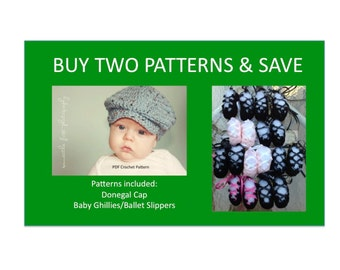 2 Instant Downloads - Donegal Cap - Baby Ghillies - PDF Crochet Patterns  and Save bd777375f49b
