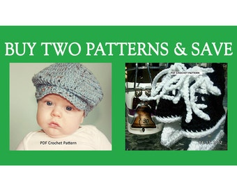 Instant Download - Buy Donegal Cap and Hockey Skates Crochet Patterns and  Save bbe092e02839