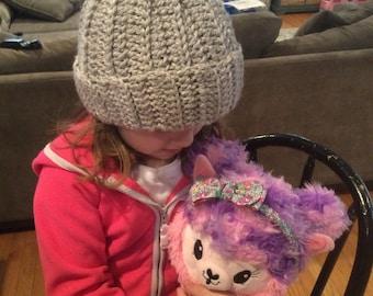 Pick your own color - Unisex pompom hat for infant - toddler - child - made to order