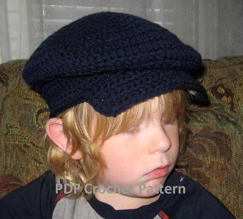 Instant Download Donegal Cap Crochet Pattern for Newborns to  b2fa179392dc