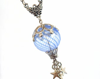 Starlight Flight - Hot Air Balloon Necklace Jewelry Jewellery