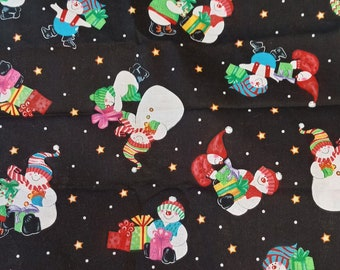 Kimberly Montgomery - Dancing Snowmen - 4 1/2 YDS AVAILABLE