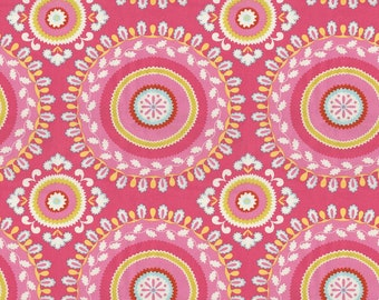 Kumari Holiday by Dena for Free Spirit Jeevan Pink 2yds available Rare OOP fabric