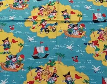 Michael Miller OOP Treasure Island Fabric -  Fat quarter -