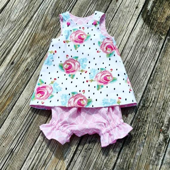 5d05218b2538 Girls Shift Dress Diaper Cover Flower Dress Girls