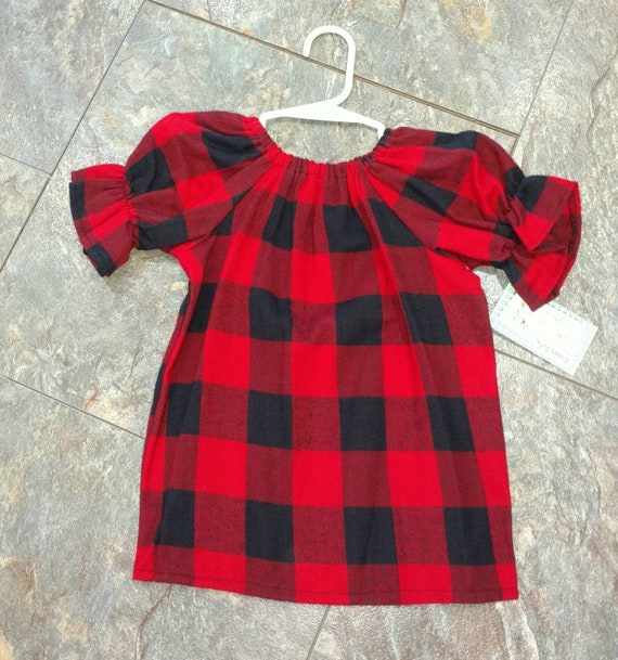 797116920 Buffalo Plaid Dress Ready To Ship Size 2t Flannel Dress | Etsy