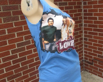 SALE - Upcycled Lonestar Tank Top - Small (580)