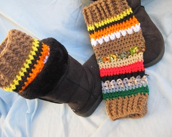 Sale - OOAK Legwarmers, Boot Cuffs, Boot Toppers, Crochet Legwarmers, Crochet Boot Cuffs, Women Legwarmers, Winter Warmers