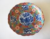 Otagiri (OMC) Japanese Plate, Kozangama of Mino, Maebata, Asian Decor, Decorative Komainu Foo Dog Shishi Lion, Ho Ho Birds, Vintage Japan