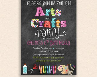 Walden Arts & Crafts Party Invitation