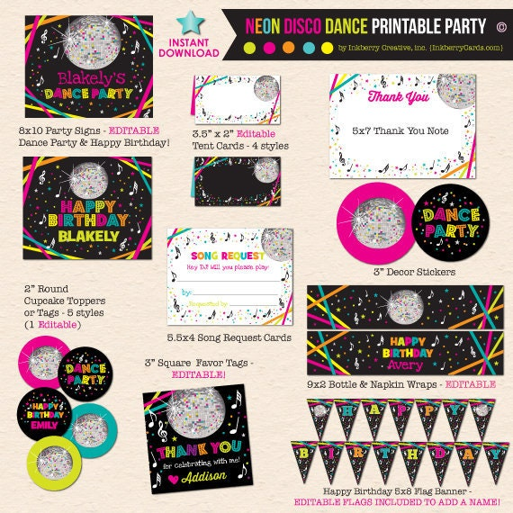 Dance Party Printable Package