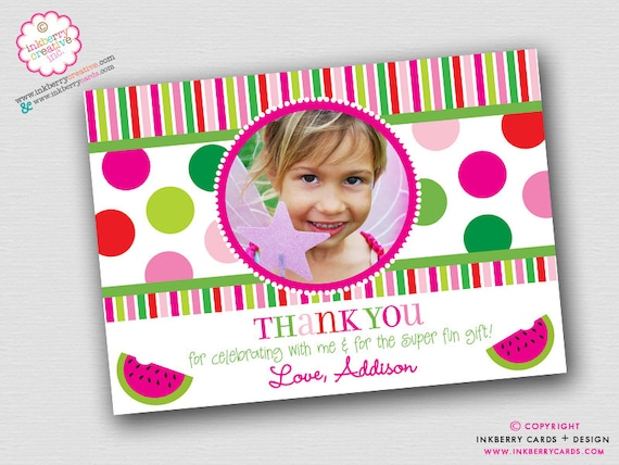 Christmas Polka Dots and Stripes Thank You Note Instant Download - Digital Files - Printable - JPEG and PDF FIles