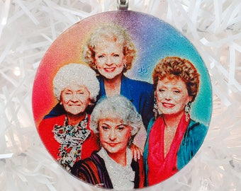 Golden Girls glass and glitter ornament