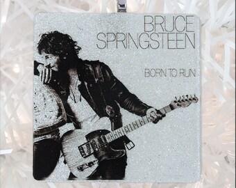 Bruce Springsteen-Born to Run Album Cover Glass Ornament