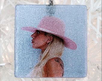 Lady Gaga - Joanne Album Cover Glass Ornament