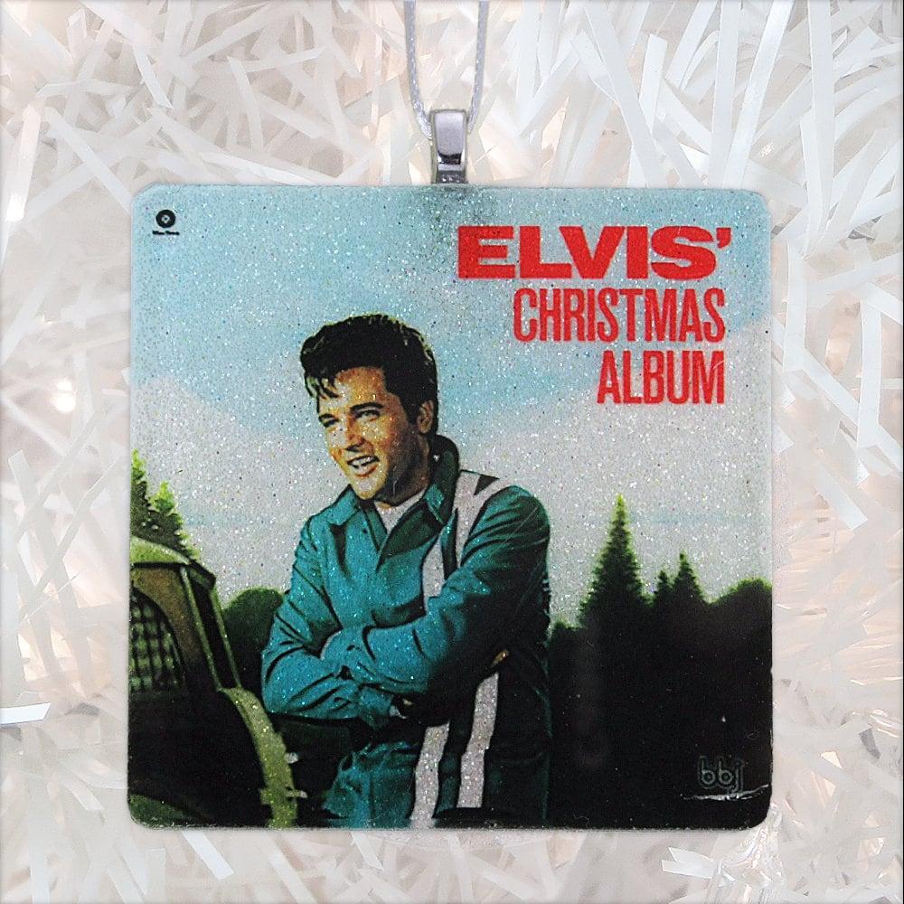 Elvis\' Christmas Album Cover Glass Ornament | Etsy
