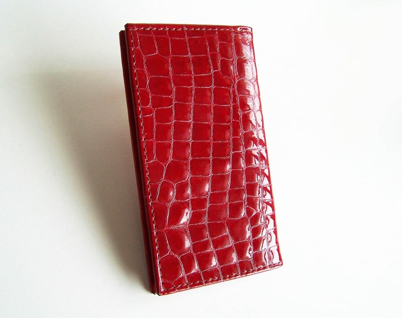 5ccfd0981a51 Candy Apple Red Leather Planner Cover with 2019 Weekly