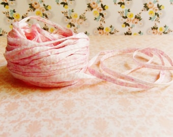 Bubble Gum Pink white Speckled Mako Cotton Ribbon ~European dotted trim egyptian baby kids wedding hair bow band supply, gift wrap favor