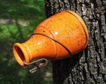 Orange Bird Bird Bottle House